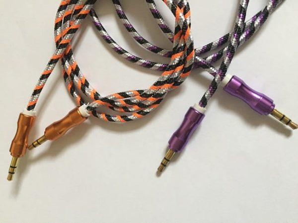 کابل AUX کنفی با سر فلزی
