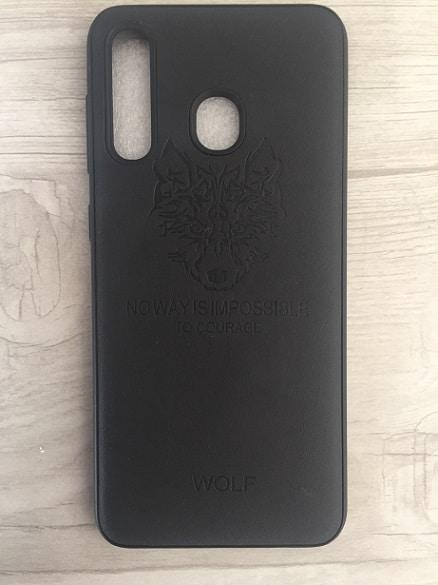 قاب چرمی گوشی سامسونگ Galaxy A30 طرح Wolf