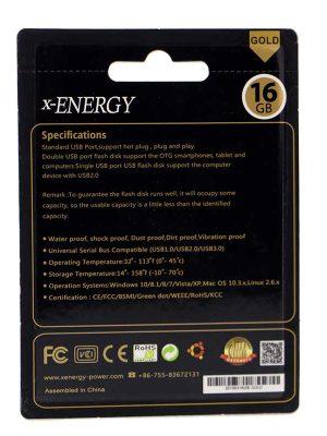 فلش ۱۶ گیگ ایکس انرژی Gold